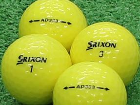 【Aランク】SRIXON(スリクソン) AD333 パッションイエロー 2011年モデル 1個