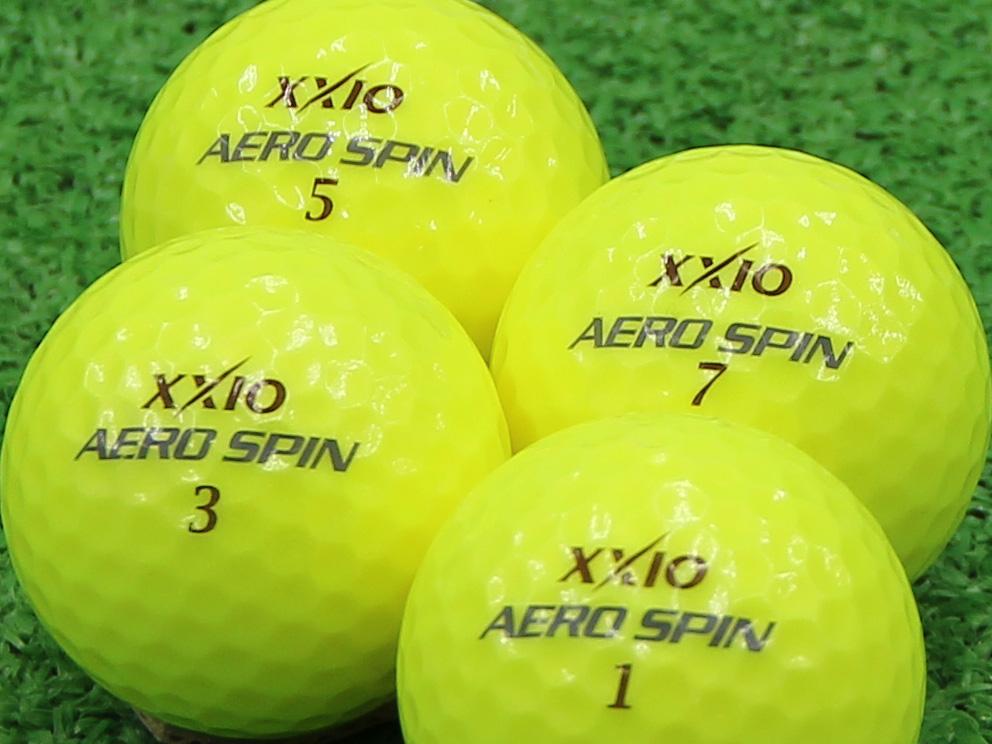 【Aランク】XXIO(ゼクシオ) AERO SPIN プレミアムパッションイエロー 1個