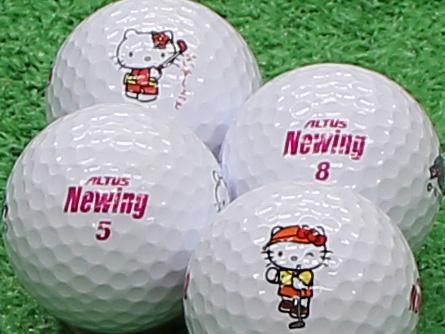 【Aランク】Newing(ニューイング) アルタスニューイング ホワイト(文字色:ピンク) キティロゴ 1個
