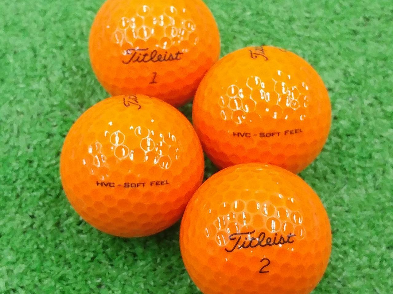 【Aランク】Titleist(タイトリスト) HVC SOFT FEEL オレンジ 2017年モデル 1個
