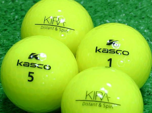 【Aランク】Kasco(キャスコ) KIRA Distant&Spin イエロー 1個