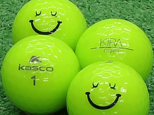 【Aランク】Kasco(キャスコ) KIRA Elegant ライム スマイルマーク入り 1個