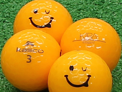 【Aランク】Kasco(キャスコ) KIRA Elegant オレンジ スマイルマーク入り 1個