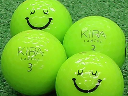 【Aランク】Kasco(キャスコ) KIRA Ladies ライム 2012年モデル スマイルマーク入り 1個