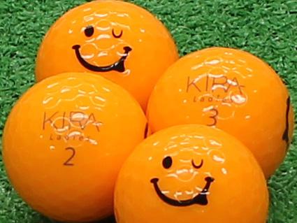 【Aランク】Kasco(キャスコ) KIRA Ladies オレンジ 2012年モデル スマイルマーク入り 1個