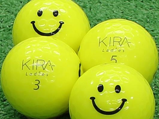 【Aランク】Kasco(キャスコ) KIRA Ladies イエロー 2012年モデル スマイルマーク入り 1個