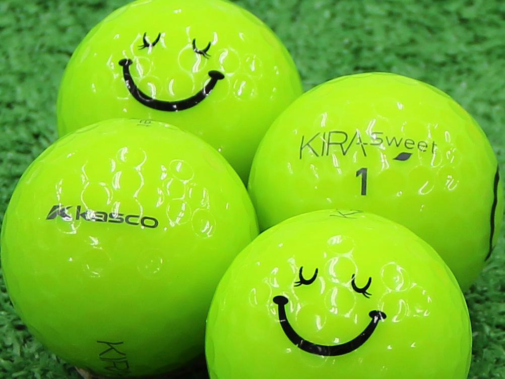 【Aランク】Kasco(キャスコ) KIRA Sweet ライム 2013年モデル スマイルマーク入り 1個