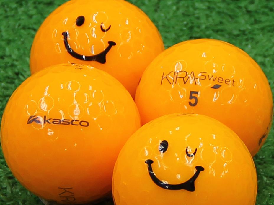【Aランク】Kasco(キャスコ) KIRA Sweet オレンジ 2013年モデル スマイルマーク入り 1個