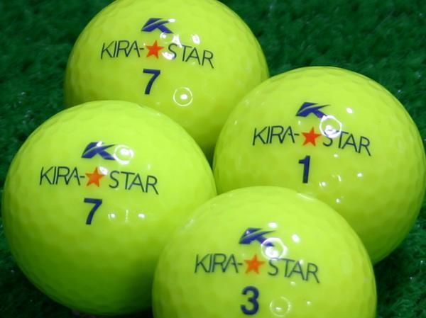 【Aランク】Kasco(キャスコ) KIRA★STAR イエロー 2010年モデル 1個
