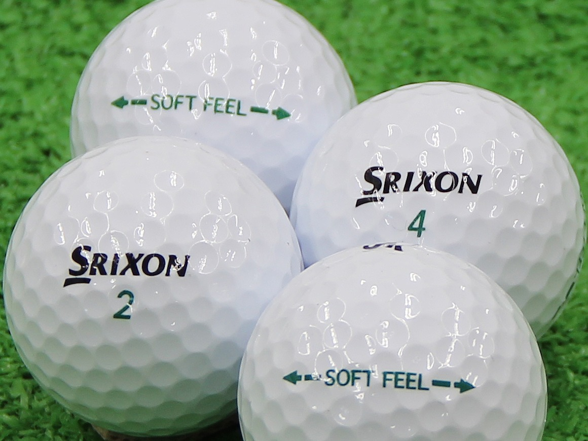 【Aランク】SRIXON(スリクソン) SOFT FEEL ホワイト 2013年モデル 1個