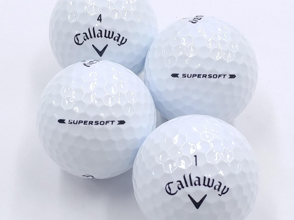 【Aランク】Callaway(キャロウェイ) SUPER SOFT ホワイト 2019年モデル 1個