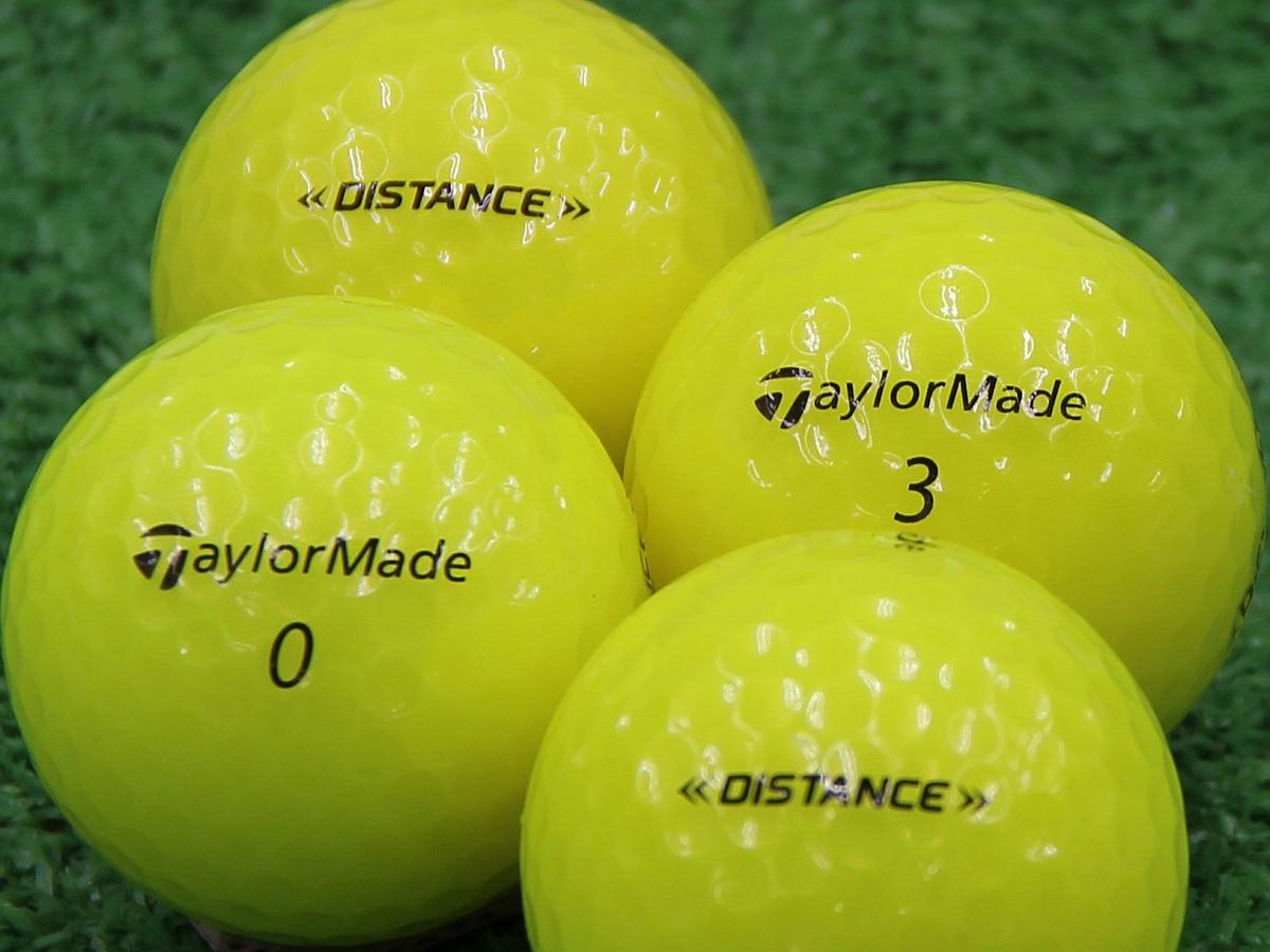 【Aランク】Taylor Made(テーラーメイド) DISTANCE イエロー 2014年モデル 1個