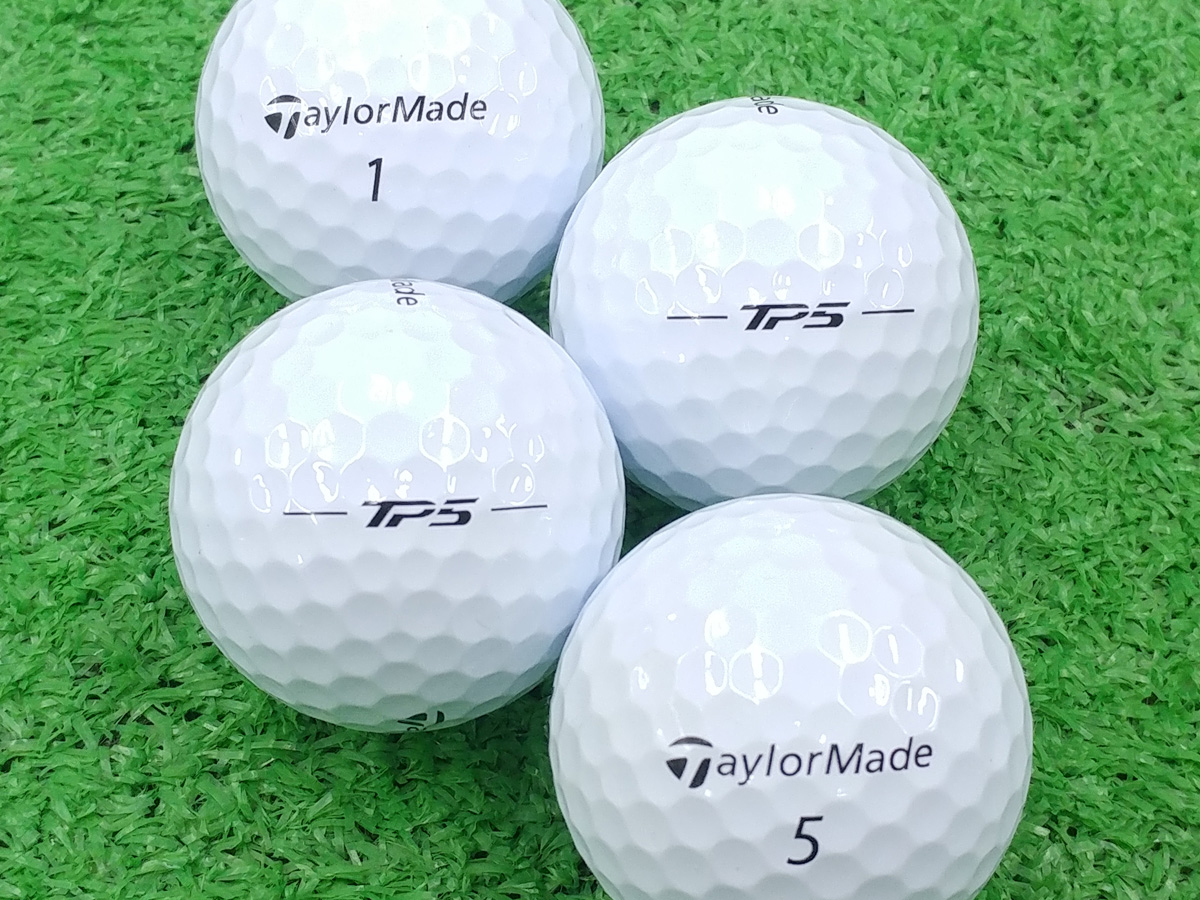 【Aランク】Taylor Made(テーラーメイド) TP5 ホワイト 2018年モデル 1個