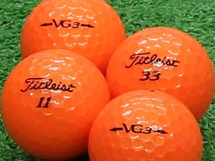 【Aランク】Titleist(タイトリスト) VG3 オレンジパール 2012年モデル 1個