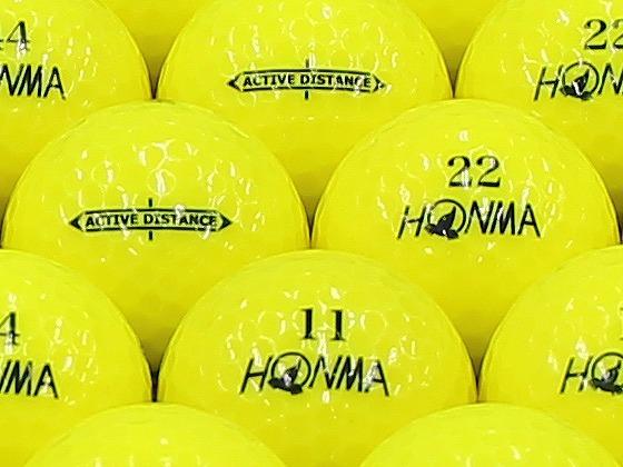 【ABランク】本間ゴルフ ACTIVE DISTANCE イエロー 2013年モデル 1個