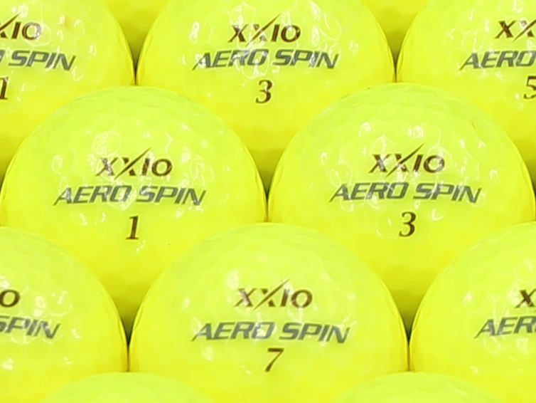【ABランク】XXIO(ゼクシオ) AERO SPIN プレミアムパッションイエロー 1個