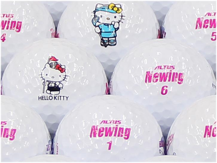 【ABランク】Newing(ニューイング) アルタスニューイング ホワイト(文字色:ピンク) キティロゴ 1個