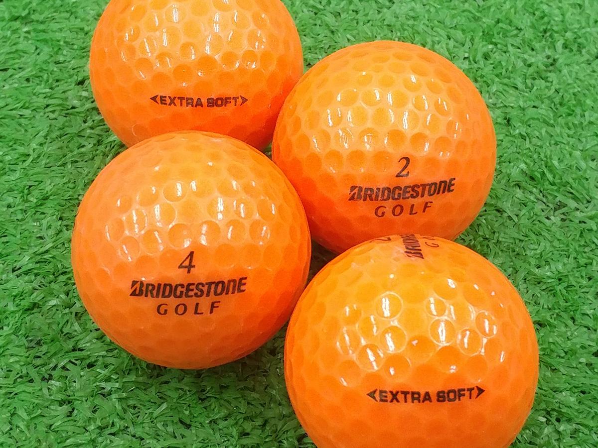 【ABランク】BRIDGESTONE GOLF(ブリヂストン) EXTRA SOFT オレンジ 2015年モデル 1個