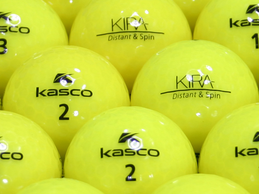 【ABランク】Kasco(キャスコ) KIRA Distant&Spin イエロー 1個