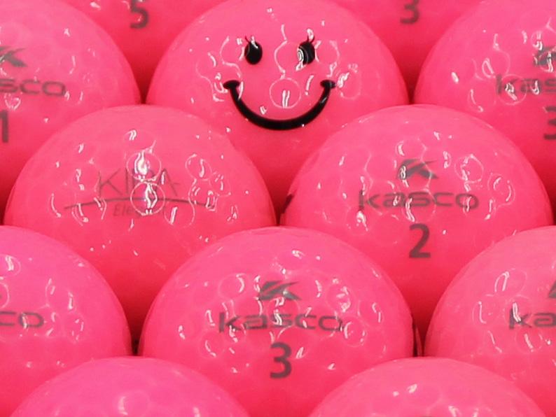 【ABランク】Kasco(キャスコ) KIRA Elegant ピンク スマイルマーク入り 1個