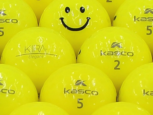 【ABランク】Kasco(キャスコ) KIRA Elegant イエロー スマイルマーク入り 1個