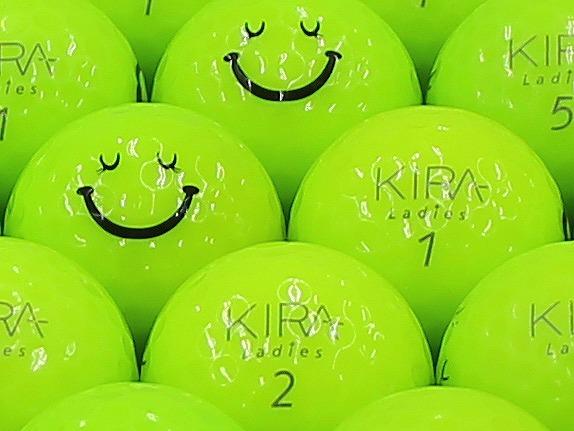 【ABランク】Kasco(キャスコ) KIRA Ladies ライム 2012年モデル スマイルマーク入り 1個