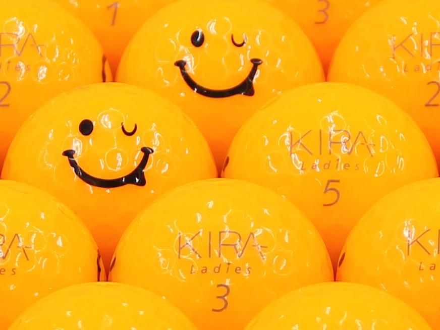 【ABランク】Kasco(キャスコ) KIRA Ladies オレンジ 2012年モデル スマイルマーク入り 1個