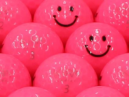 【ABランク】Kasco(キャスコ) KIRA Ladies ピンク 2012年モデル スマイルマーク入り 1個
