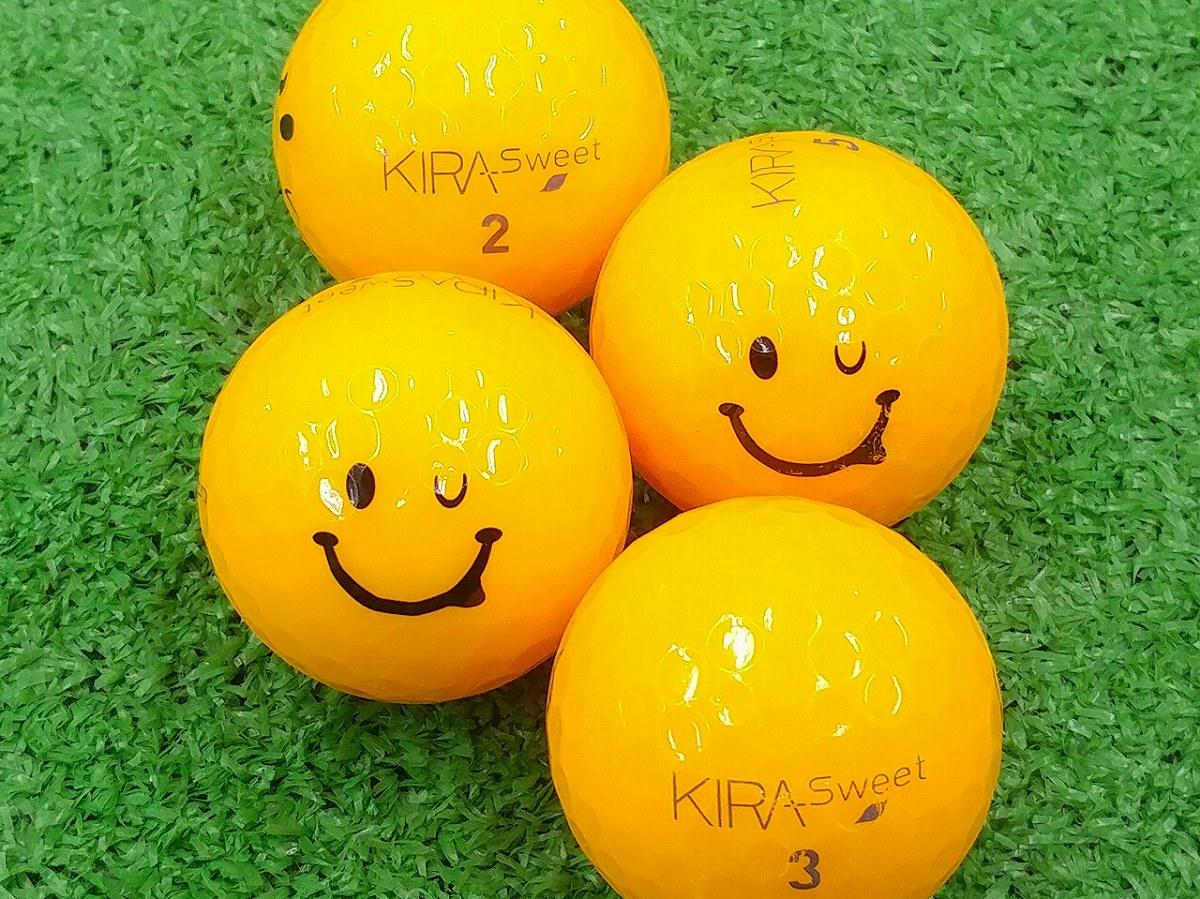 【ABランク】Kasco(キャスコ) KIRA Sweet オレンジ 2013年モデル スマイルマーク入り 1個