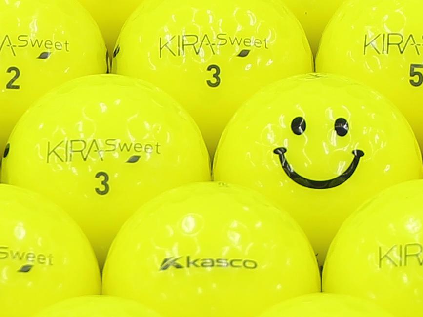 【ABランク】Kasco(キャスコ) KIRA Sweet イエロー 2013年モデル スマイルマーク入り 1個