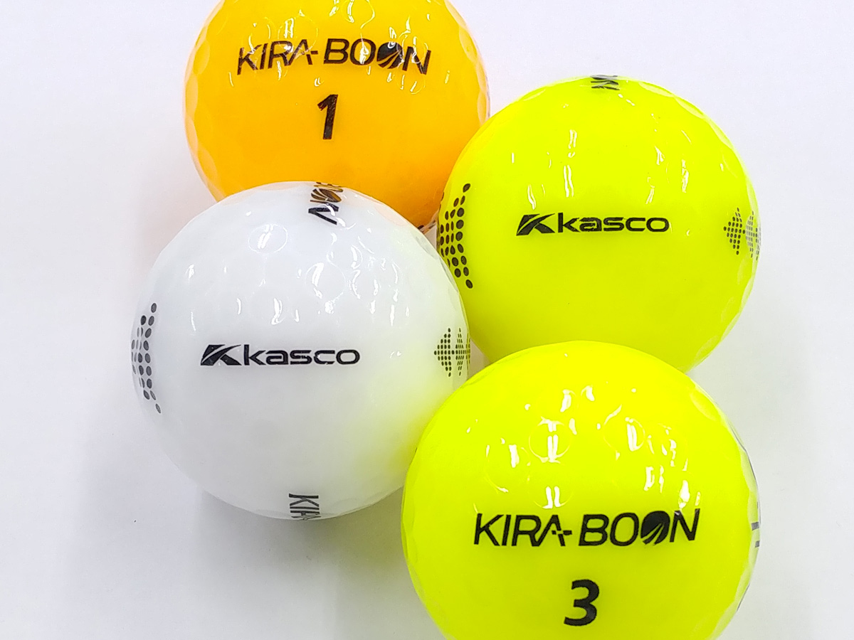 【ABランク】Kasco(キャスコ) KIRA BOON ホワイト・カラー混合 2018年モデル 1個