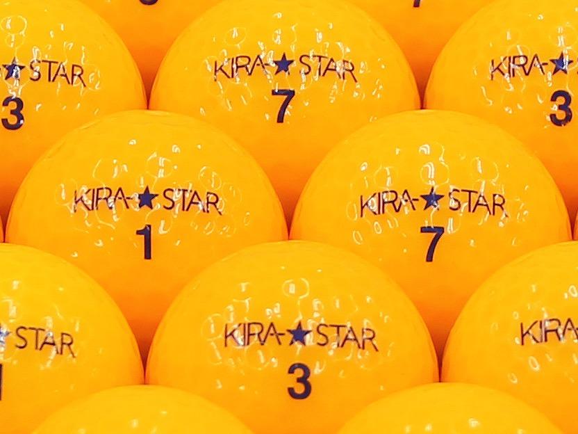 【ABランク】Kasco(キャスコ) KIRA★STAR オレンジ 2013年モデル 1個
