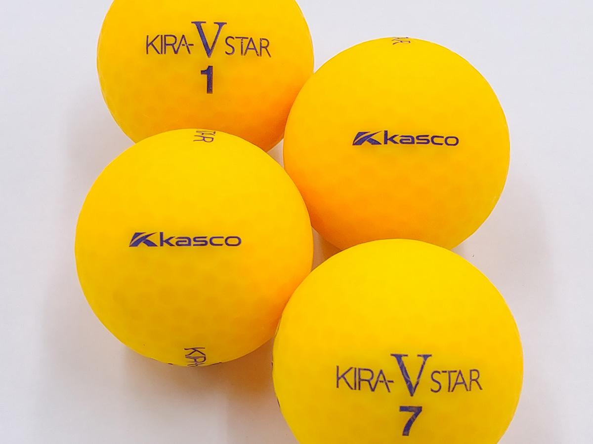 【ABランク】Kasco(キャスコ) KIRA V STAR オレンジ 2017年モデル 1個