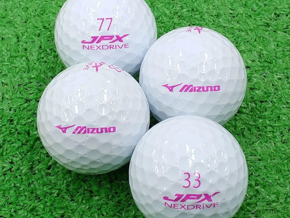 【ABランク】ミズノ JPX NEXDRIVE ホワイト 2015年モデル 文字色ピンク 1個