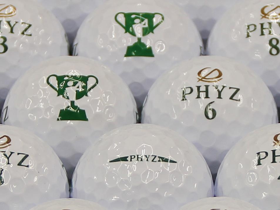 【ABランク】ツアーステージ PHYZ ホワイト 2013年モデル チャレンジカップロゴ 1個