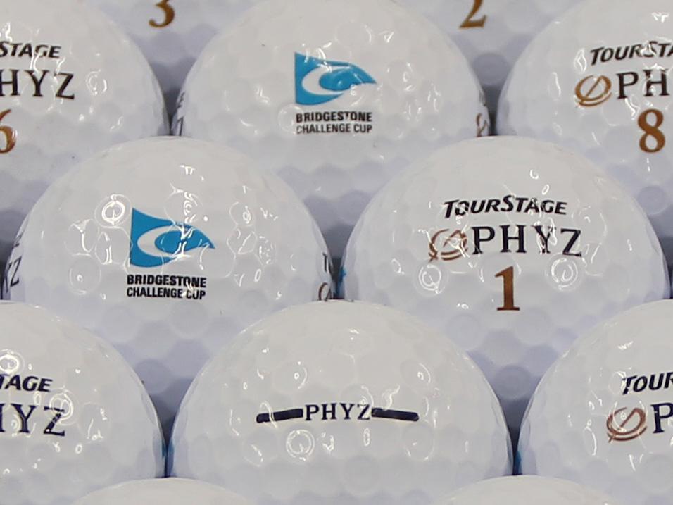 【ABランク】ツアーステージ PHYZ ホワイト 2011年モデル チャレンジカップロゴ 1個