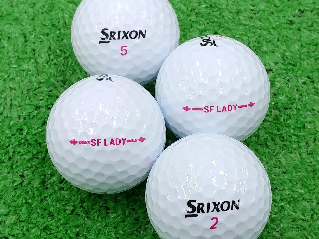 【ABランク】SRIXON(スリクソン) SOFT FEEL LADY ホワイト 2013年モデル 1個