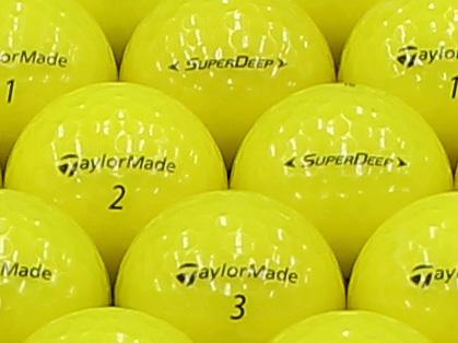 【ABランク】Taylor Made(テーラーメイド) SUPER DEEP イエロー 2013年モデル 1個