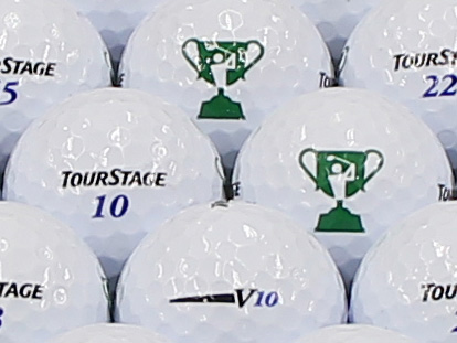 【ABランク】ツアーステージ V10 ホワイト 2012年モデル チャレンジカップロゴ 1個