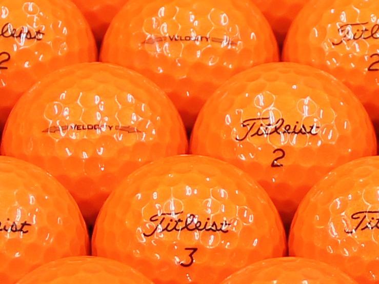 【ABランク】Titleist(タイトリスト) VELOCITY オレンジ 2014年モデル 1個