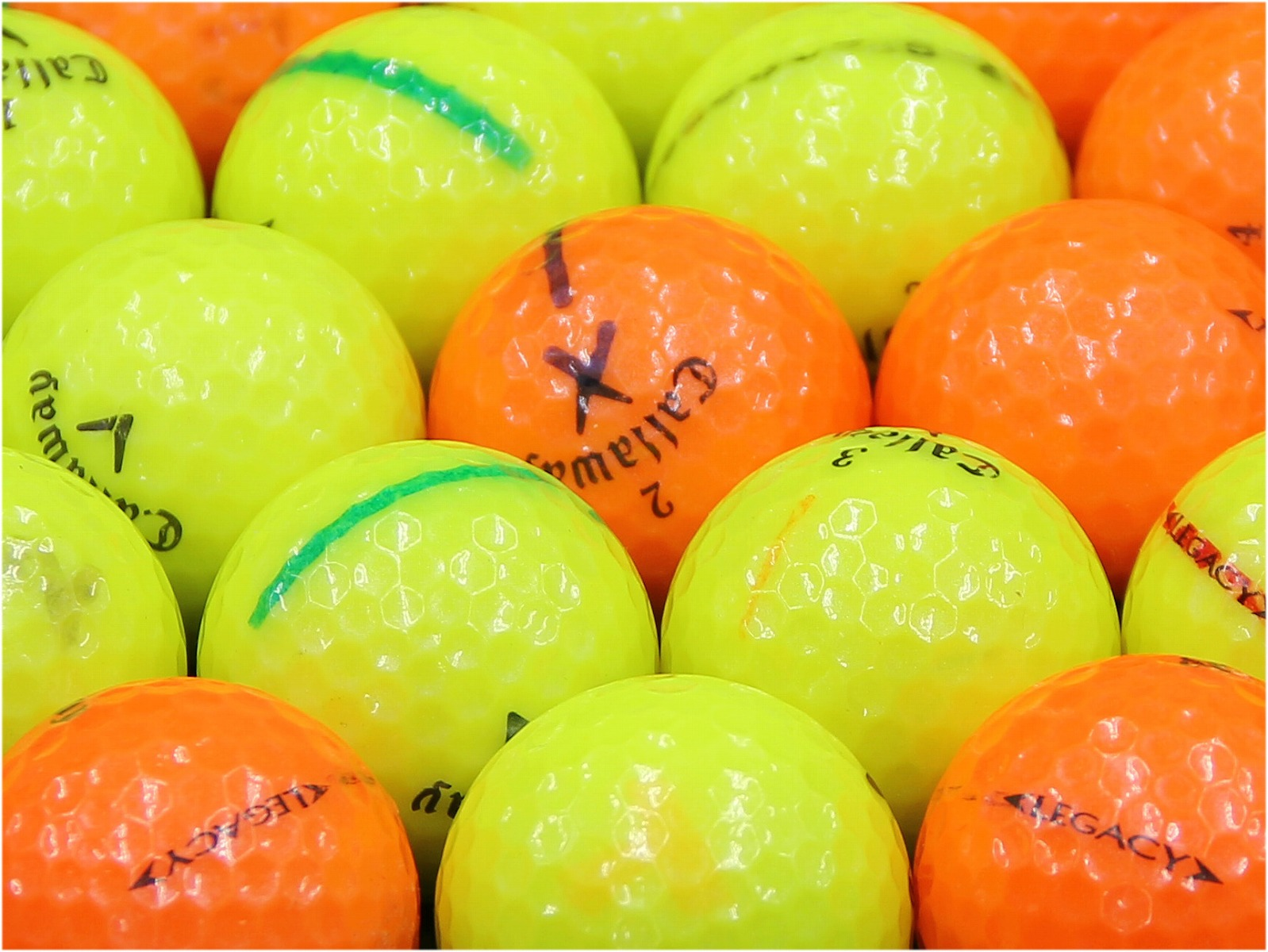 【ABランク落書き】Callaway(キャロウェイ) LEGACY カラーボール混合 2012年モデル 1個