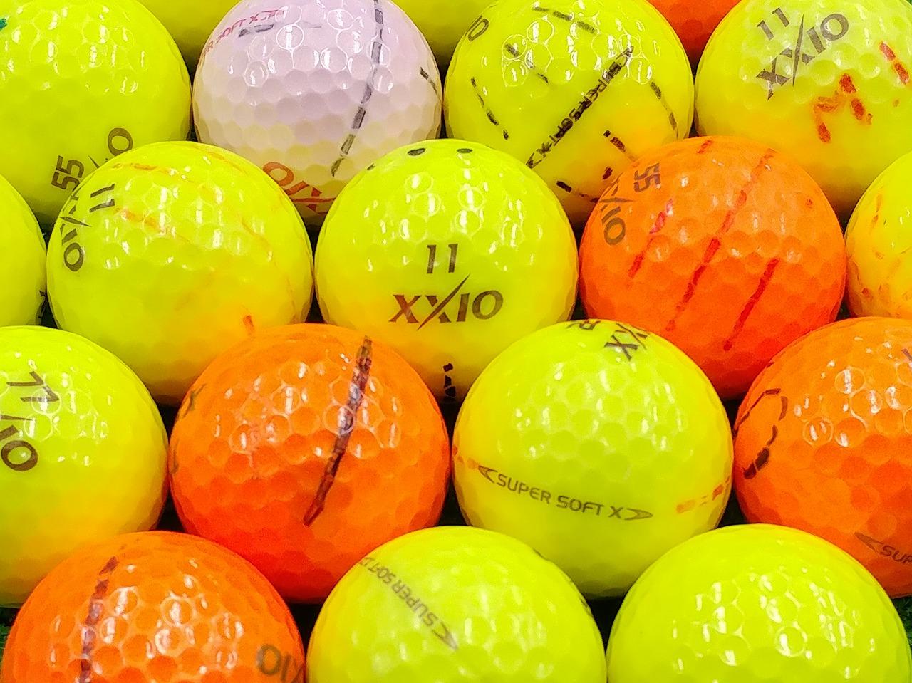 【ABランク落書き】XXIO(ゼクシオ) SUPER SOFT X カラーボール混合 2017年モデル 1個