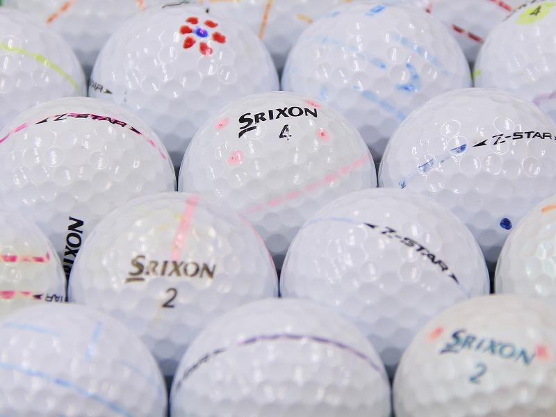 【ABランク落書き】SRIXON(スリクソン) Z-STAR ホワイト・プレミアムホワイト・ロイヤルグリーン混合 2009年モデル 1個