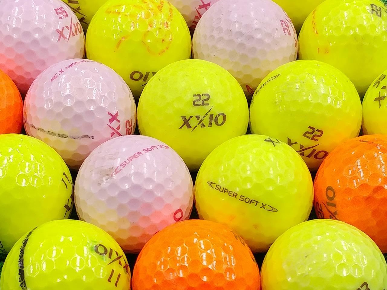【Bランク】XXIO(ゼクシオ) SUPER SOFT X カラーボール混合 2017年モデル 1個