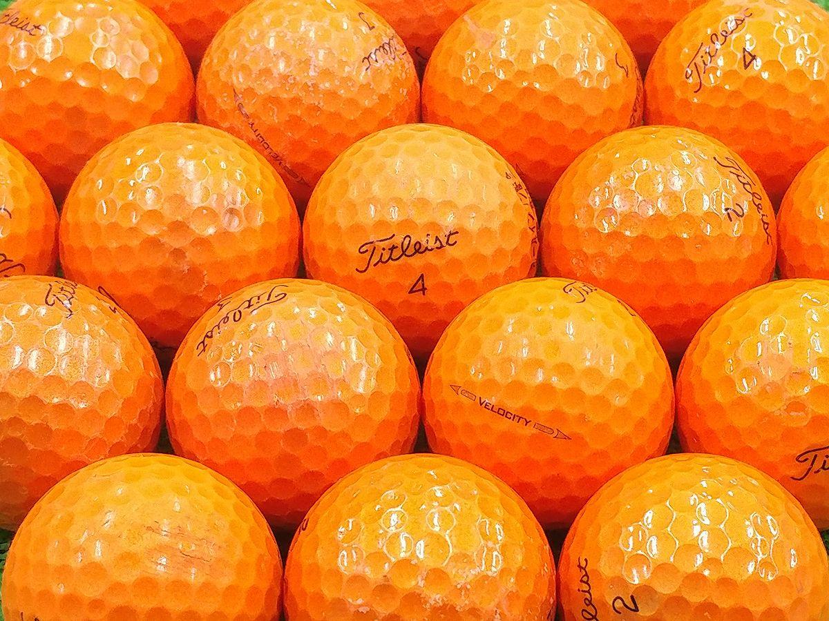【Bランク】Titleist(タイトリスト) VELOCITY オレンジ 2016年モデル 1個